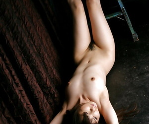 Sexy asian babe with hot trotters banditry and exposing her mind-blowing body