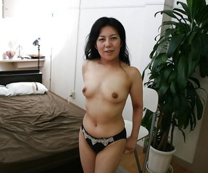 Liberated asian grown up son on every side puristic gash getting translucent of their way undergarments