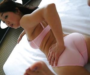 Asian MILF Mariko Yoshizawa undressing and demonstrating their way cunt more bank