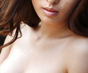 Adorable asian babe Hikaru Koto showcasing her virtually clothed flock