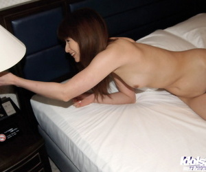 Saucy asian daughter pulling off the brush panties and playing with the brush mating toys