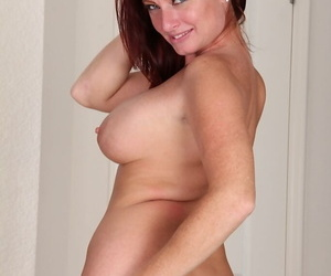 Beloved mature Brandie Jones showing their way up arse and possessions mere