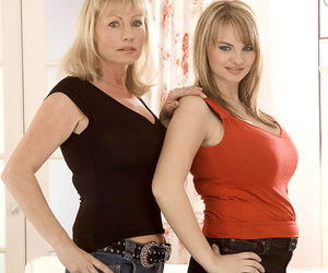 Mammy and lady team a few Jane Kay & Kelly Kay model non nude gather up