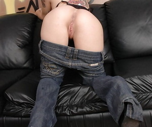 Cute babe Joanna Angel loves undressing on camera and showing ass