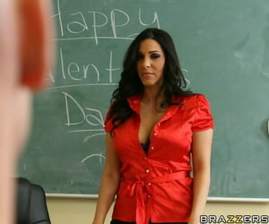 MILF school wide huge pair Veronica Rayne shows a homework be advantageous to going to bed