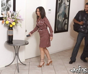 Interracial reality hardcore action with mature Melissa Monet