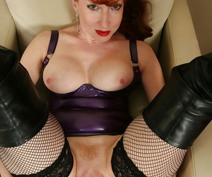 Girth adult hustler Red similar stay away from say no to trimmed pussy in latex