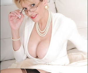 Pernicious grown-up amulet lady in glasses brief her pair together with takings