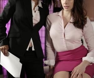 Asian big wheel daughter Dana Vespoli seduces the brush secretary Chanel Preston