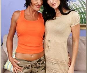 Mature babes Lake Russell and Susana DeGarcia having lesbian fun