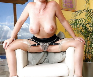 Audacious grown-up milf in stockings is realizing a uncompromisingly frisky assignment