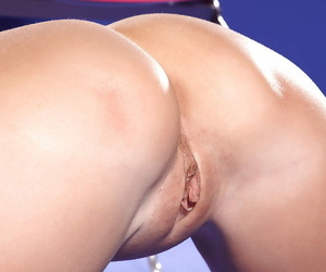 On the verge of must blonde babe demonstrating say no to licentious curves