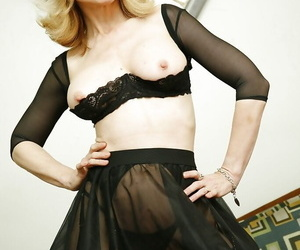 Grown-up pornstar there dazzling underclothing Nina Hartley impresses her fans