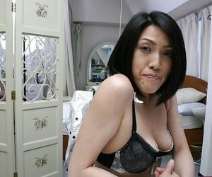 Shy asian MILF with saggy pair Miki Ohnuma getting basic