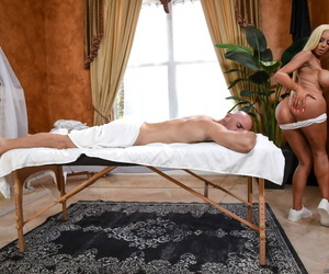 Massage therapist Nicolette Shea goes the extra mile for a happy ending