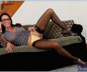 MILF babe Ariella Ferrera is a seductive teacher in hot lingerie.
