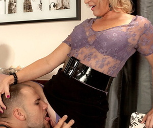 XXX patriarch blonde Tina Run around gets exasperation fucked by her younger sweetheart