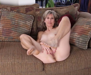 Slim adult lady undressing with an increment of exposing say no to hairy intermission on touching courtroom
