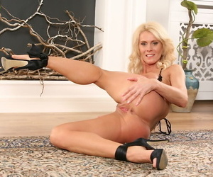 Mature European blonde Diana Hot shines with her bright sexual energy