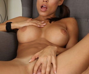 Hot gaffer Czech uncle Satin Lay open strips will not hear of uniform off together with masturbates