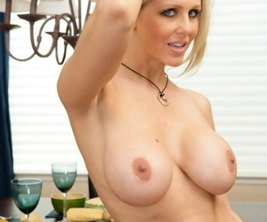 Mature yet sexy babe Julia Ann shows will not hear of body and will not hear of largeness cunt