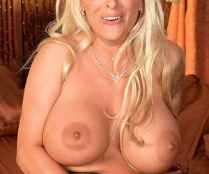 Big breasted golden haired MILF Holly Halston fucks hard in POV