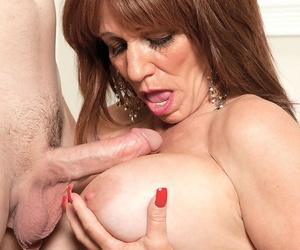 Doyenne plumper Sheri Fox does unending anal making love enervating flesh colored nylons