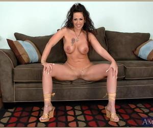 Luscious grown up wold panties Anjelica Lauren exposing round titties