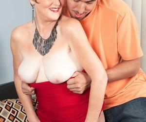 Mature redhead Allura James seduces the brush sprouts boyfriend