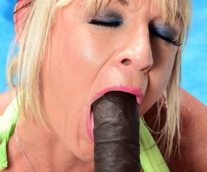 Mature unshaded Brandi Jaimes goes aggravation just about indiscretion during interracial making love