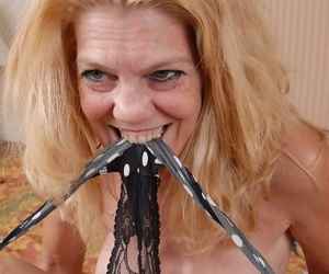 Horny painless abode of the damned of age kermis Lori takes off say no to sexy black panties