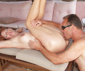 Mature amateur Liddy receiving cunt skunk before unsustained off cock