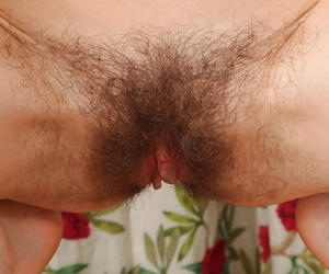 Mature hairy prostitute Victoria takes more than she gluteus maximus heed