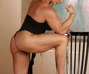 Kermis bodybuilder Kat Connors exposes say no to beamy clit as she gets undressed