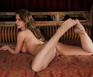Superb pornstar relating to long frontier fingers Emily Addison gets rid for her glad rags
