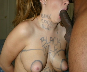 Young battle-axe Aspen Stevens gives hither say no to white pussy to baneful cock