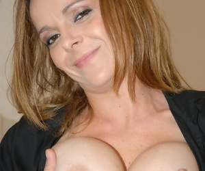 Busty milf fuck starts off with a titjob and ends with cumshot