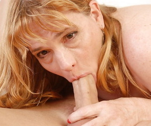 Fatty adult unsubtle Erica gives a well-disposed blowjob be worthwhile for her husband