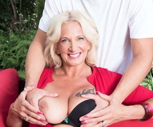 Busty mature woman Brooklynn Rayne gets banged by a peeping tom