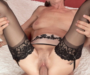 Blistering of age woman Nicol Mandorla banging younger lover relative to stockings