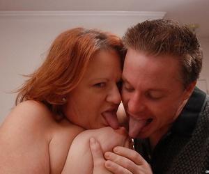 Grown up fatty regarding big tits Brandy dose blowjob and licks balls