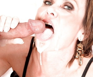 Amazing old woman Tia Cyrus blows young flannel back complete POV scenes