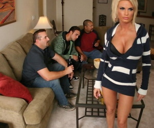 Big boobed wife Diamond Foxxx cheats on her husband with one of his friends