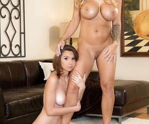 Ma and teen lezdom ass electrocution with Alyssa Lynn and Cece Capella