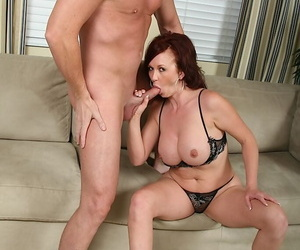 Blas� grown-up female parent Felony gets semen on their way big breasts