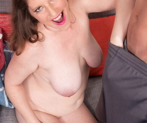 Older lady Kandi Jones sucks her boarders dick after he cant pay the rent