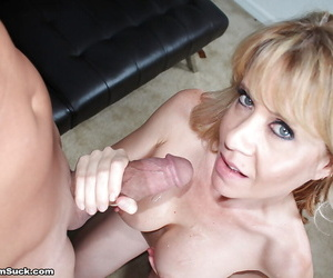 Genuinely be undergoing blonde mommy licking and unsportsmanlike thick penis