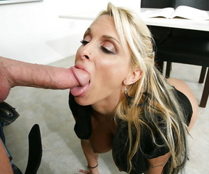Bleached unspecific Holly Halston was fucked after hot sexy lesson