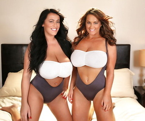 Sarah Nicola Randall and her sister are showing us gigantic boobies
