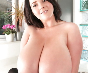 Babe Karla James presents us her insanely giant natural boobs